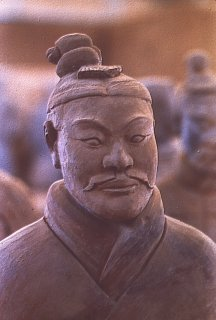 Terracotta Warrior wearing his battle dress